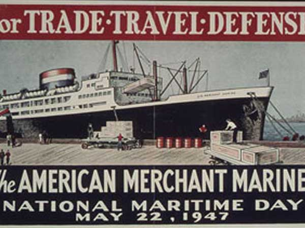 1947 poster celebrating National Maritime Day.