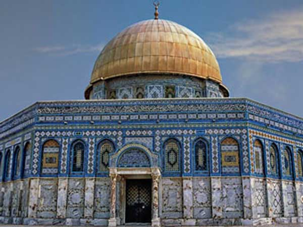 Dome of the Rock on the Temple Mount in the Old City of Jerusalem.