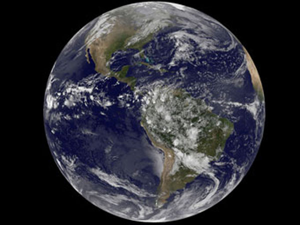 Earth snapshot from NASA on April 22, 2014.