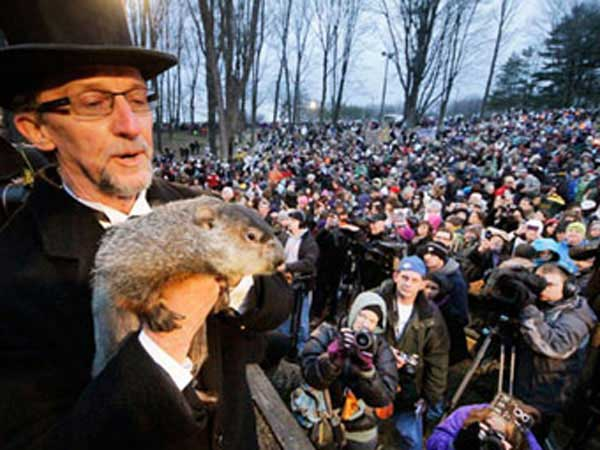 Punxsutawney Phil see's no shadow and Spring will come early.