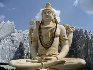 Large statue of Lord Shiva