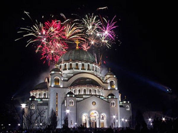 New Years at Saint Sava Cathedral in Serbia.