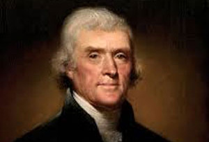 Old picture of Thomas Jefferson in his prime