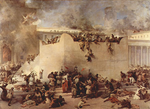 Painting of the destruction of the Jewish Temple