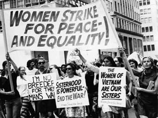 New York City womens equality march in 1970